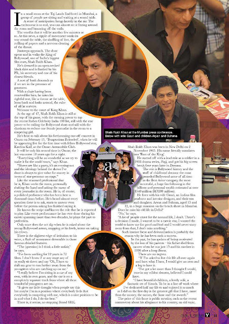 Shahrukh Khan on the cover of Pulse of Oman Magazine