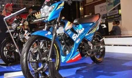 Gambar motor Satria Striping MotoGP