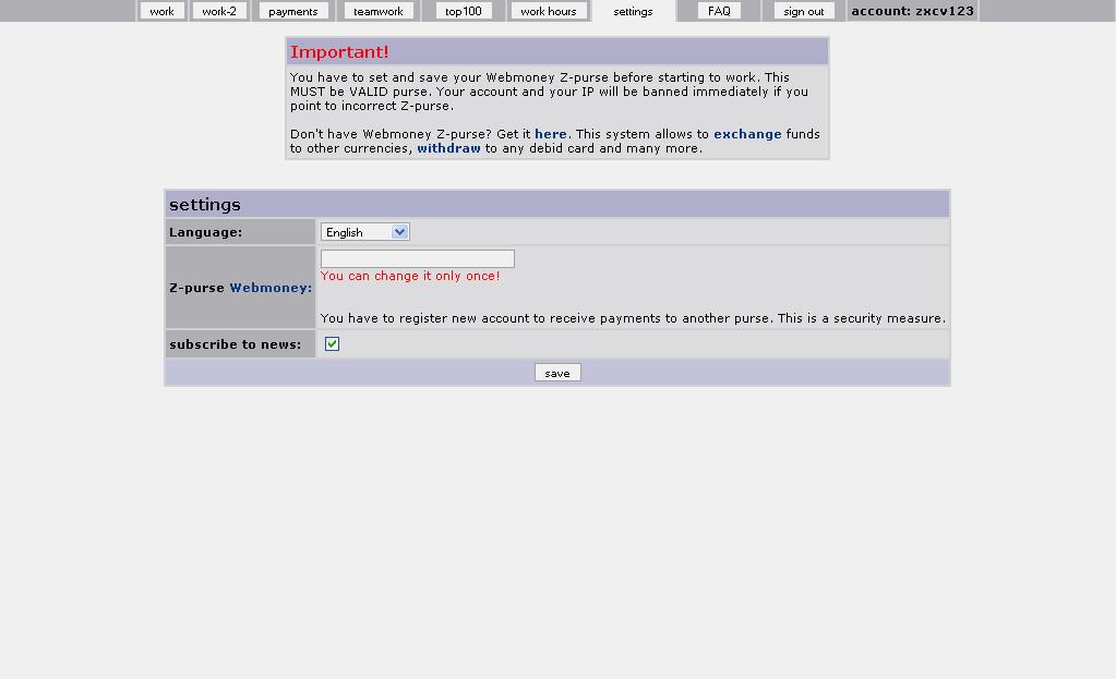 webmoney z purse login
