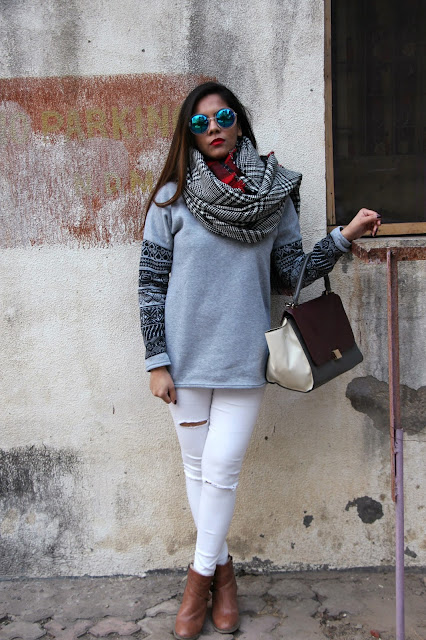 fashion,Warm Winter Outfit, winter fashion trends 2015, double sided plaid scarf, plaid scarf,round sunglasses, fleece top,white ripped skinny jeans,delhi fashion blogger,delhi blogger, indian fashion blogger, beauty , fashion,beauty and fashion,beauty blog, fashion blog , indian beauty blog,indian fashion blog, beauty and fashion blog, indian beauty and fashion blog, indian bloggers, indian beauty bloggers, indian fashion bloggers,indian bloggers online, top 10 indian bloggers, top indian bloggers,top 10 fashion bloggers, indian bloggers on blogspot,home remedies, how to