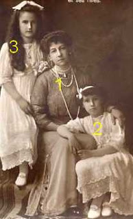 Maria Princess of Greece and Denmark, Princess Nina Georgievna of Russia, Princess Xenia Georgievna of Russia
