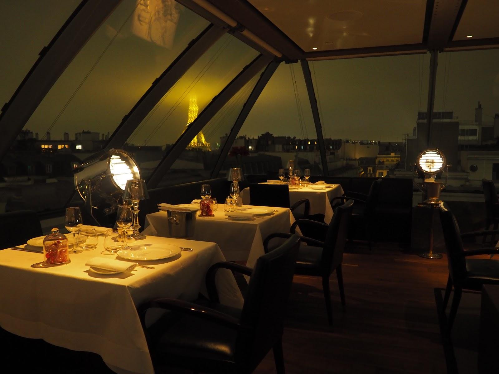 L'oiseau Blanc, Peninsula Hotel, Paris at night time