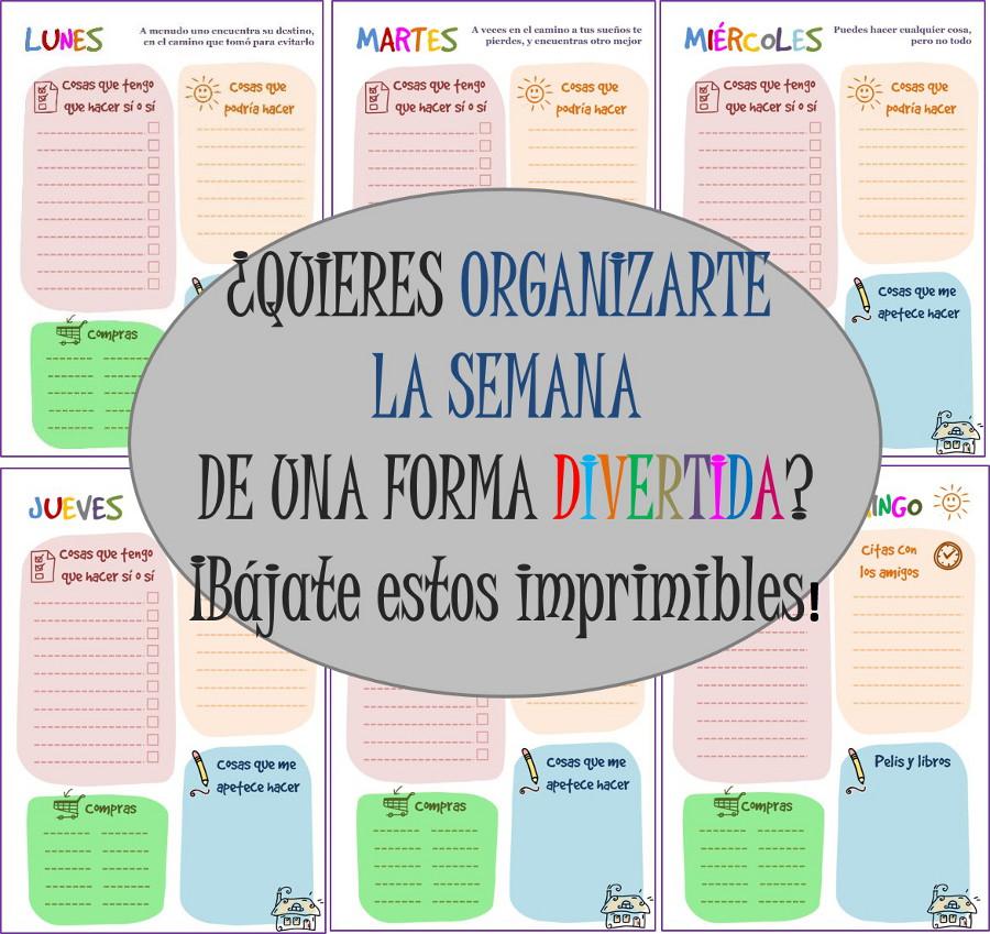 Imprimibles gratis to do list para organizarte la semana - Trabajo por horas de limpieza ...