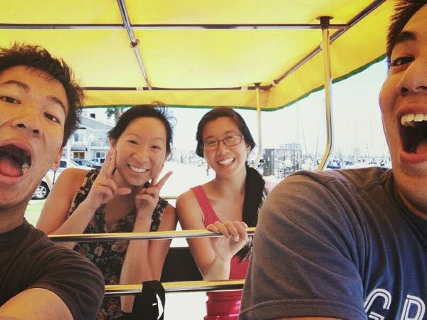 Long Beach Bike Riding // Surrey Selfie