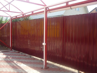 Забор из профлиста. Фото 11