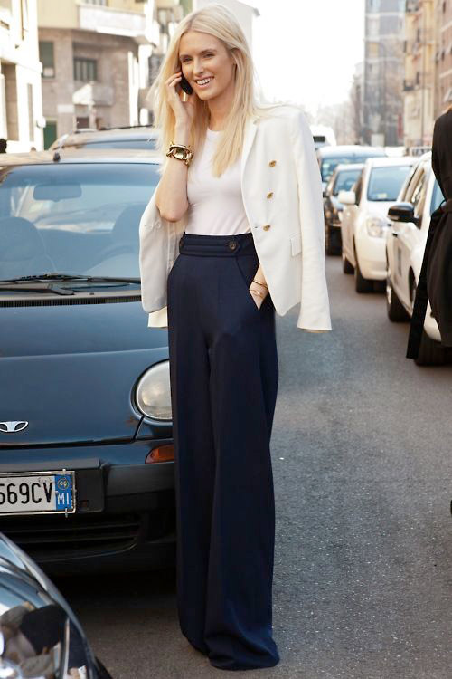 fall style inspiration, structured pants, street style