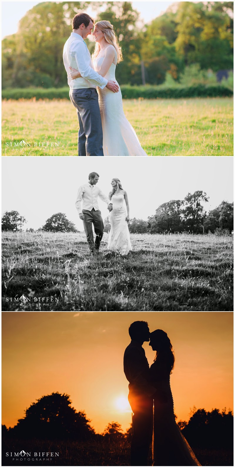 Dusk wedding photos with bride and groom in Somerset