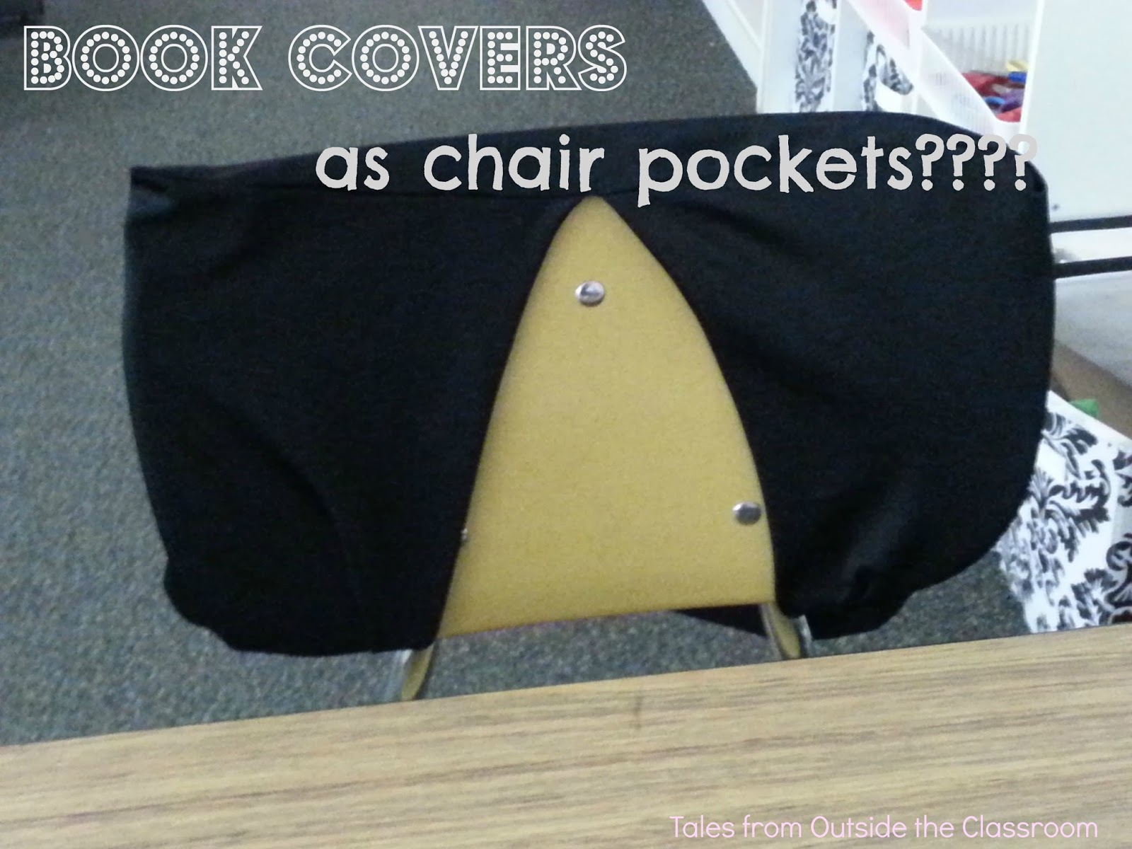 Book Covers as Chair Pockets My take on the Pinterest sensation
