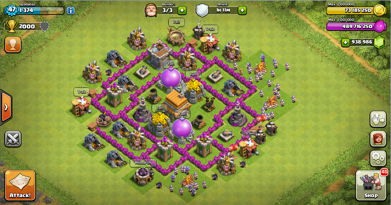 Design thropy base clash of clans th 6 design base clash of clans