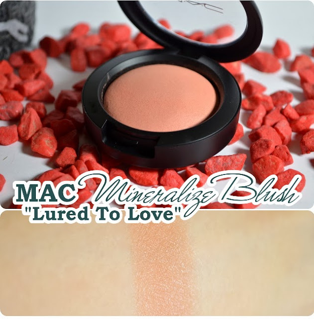 Review MAC Divine Night Holiday Collection 2013 - Mineralize Blush LURED TO LOVE