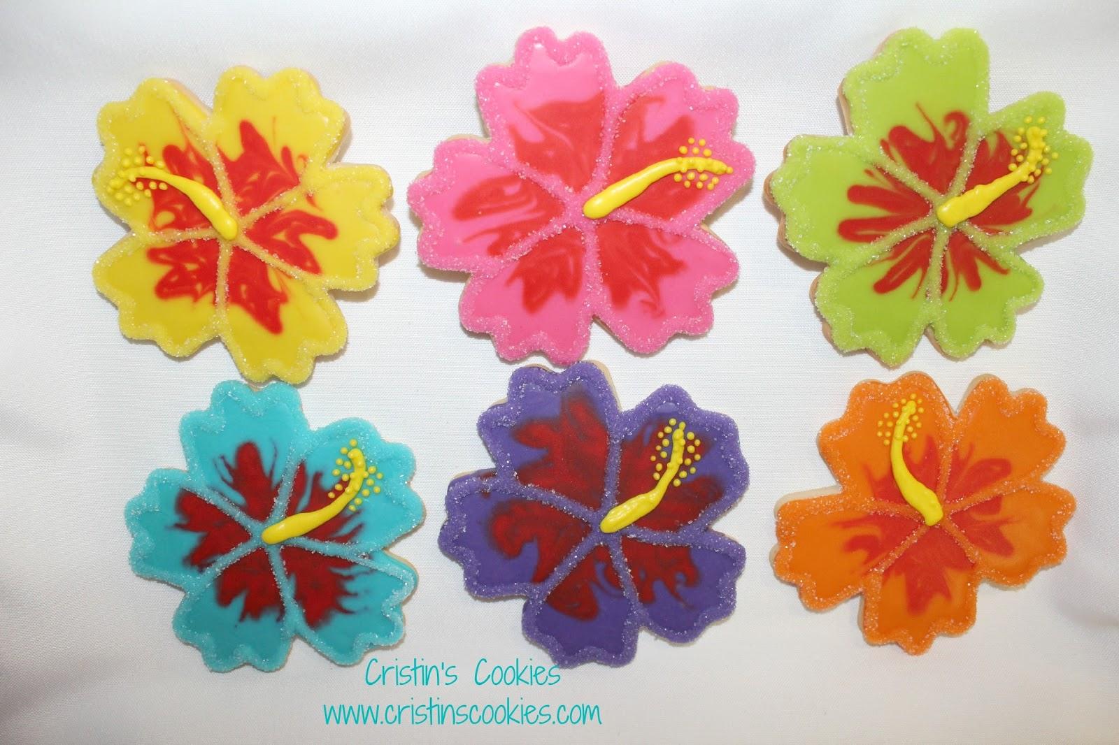 Cristins cookies hibiscus hula girls and free printable cookie hibiscus hula girls and free printable cookie tags too izmirmasajfo