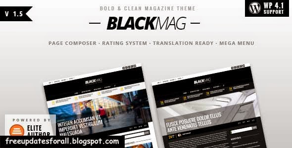 BLACKMAG - Bold & Clean Magazine Theme Free Download