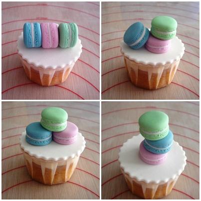 Sweets Wedding Ring Cupcake Macarons