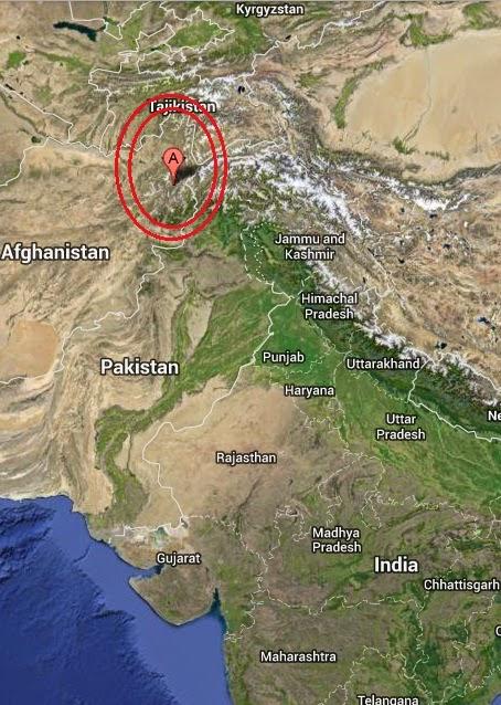 Magnitude 5.3 Earthquake of Alaqahdari-ye Kiran wa Munjan, Afghanistan 2014-09-13