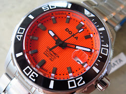 DOXA SHARK 300m DIVER CERAMICA ORANGE TEXTURE DIAL - AUTOMATIC - BRAND NEW WATCH