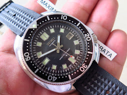 SEIKO DIVER 6105 8110 - WATER 150M RESIST - AUTOMATIC - WAFFLE RUBBER STRAP
