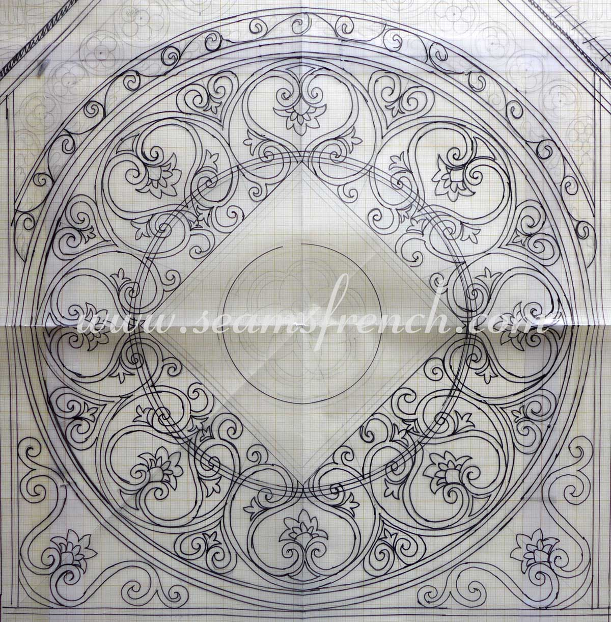 Rose window boutis for Rose window design