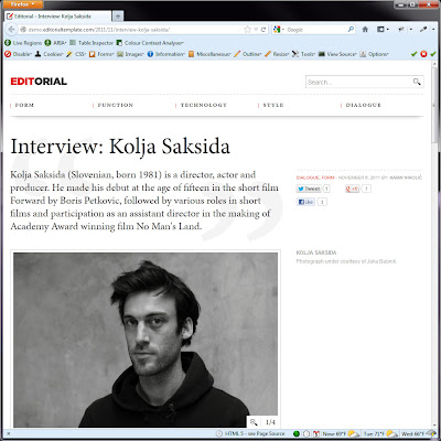 Screen shot of http://demo.editorialtemplate.com/2011/11/interview-kolja-saksida/.