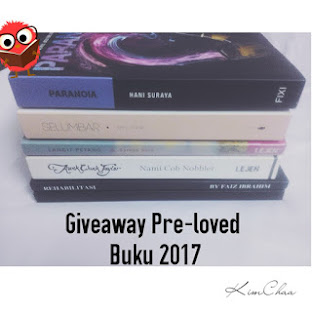 GIVEAWAY PRE-LOVED BUKU 2017 by KimChaa