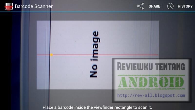 Screenshot tampilan utama BARCODE SCANNER aplikasi android scan barcode & QR code ringan dan kecil (rev-all.blogspot.com)