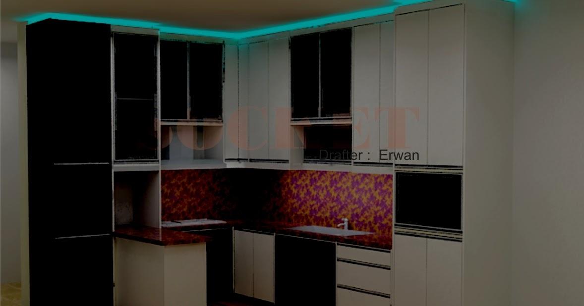 perancangan interior desain dapur