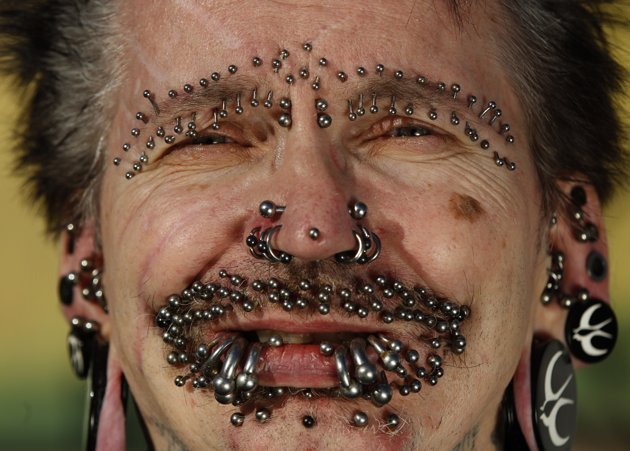 Most Pierced Man