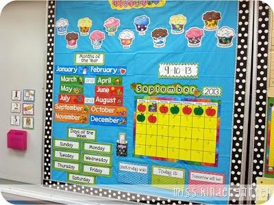 Kindergarten Calendar Wall