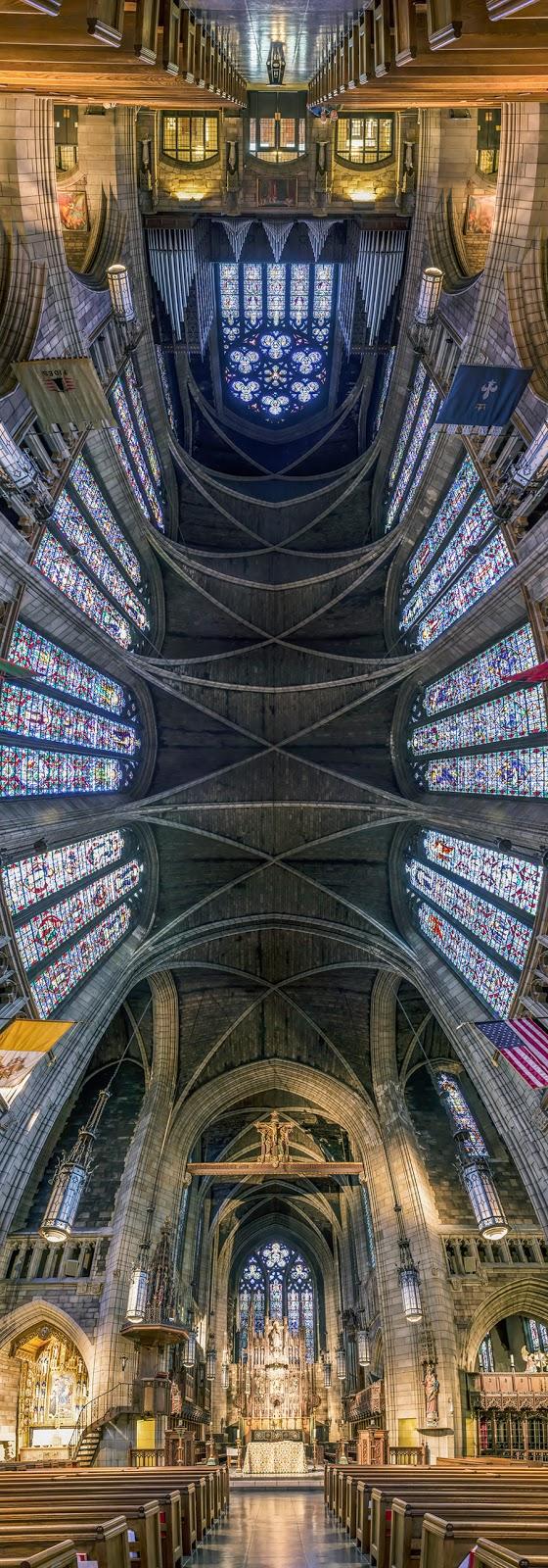 Fotografías panorámicas verticales de iglesias de Nueva York por Richard Silver