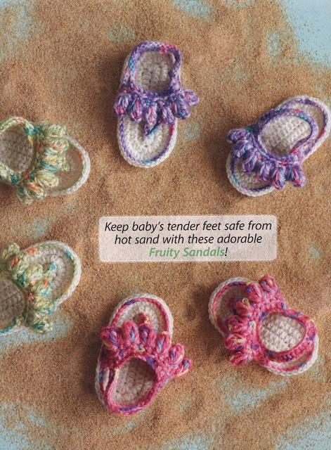 Sandália para bebê em crochet