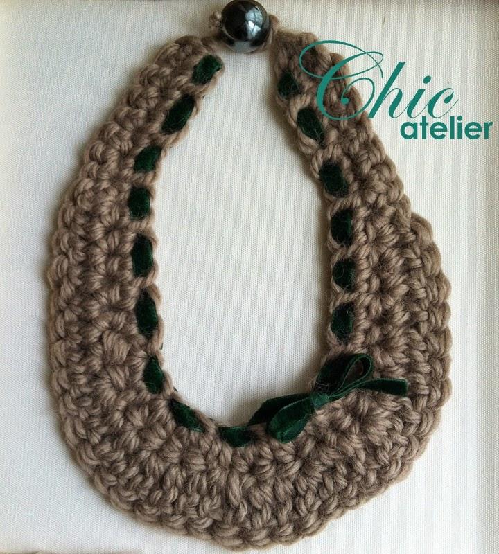 Collares de lana tejidos a mano