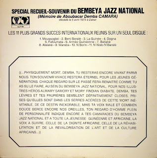 Bembeya Jazz National - Special Recueil-Souvenir,M?moire de Aboubacar Demba Camara,Les 11 plus grands succes internationaux,Editions Syliphone Conakry, SLP 44, 1974