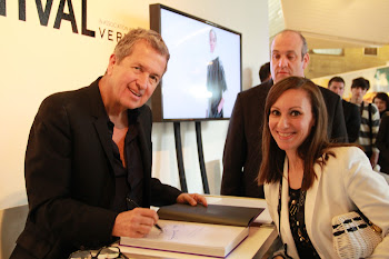With Mario Testino