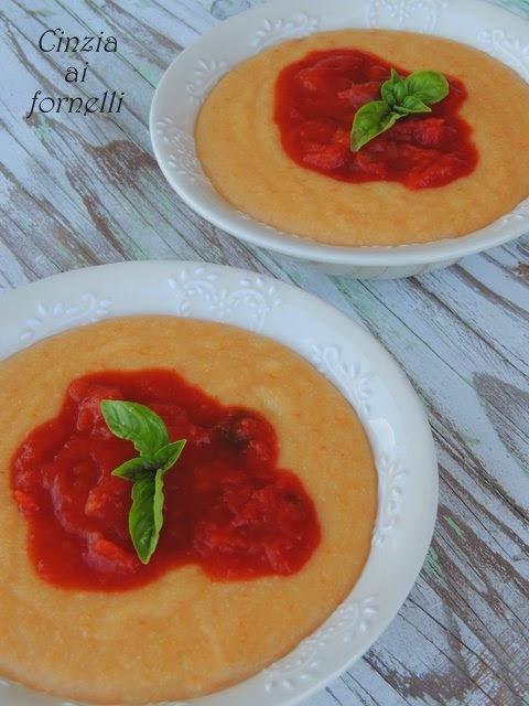 polenta con zucca e pomodoro