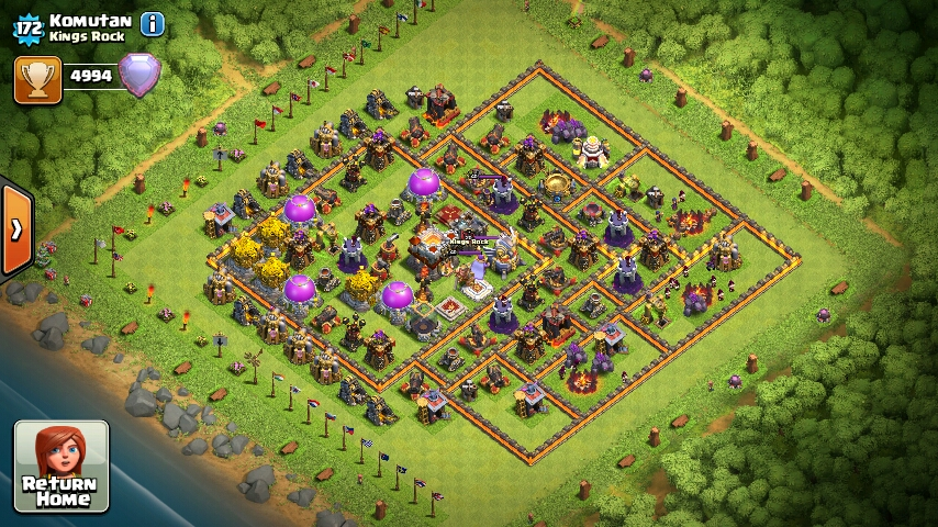 Updated Town hall 11 war base layout for Clashers: 2016 - COC-Designs