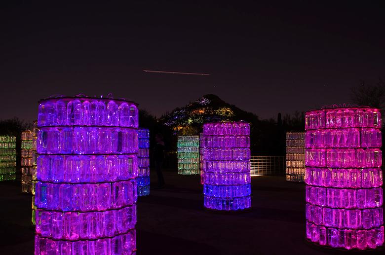 Bruce Munro, Sonoran Light, Desert Botanical Gardens, Water-Towers