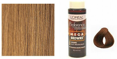 "Light Caramel"" extensions and L'Oreal Preference Mega Browns Caramel"