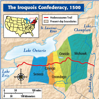 Iroquois Confederacy Map Classroom At The End o...