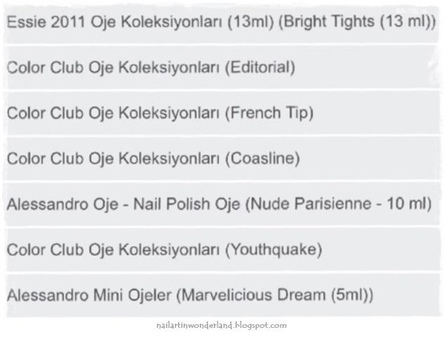 Vanilya Club oje alışverişim: Color Club, Alessandro, Essie Nail Polish
