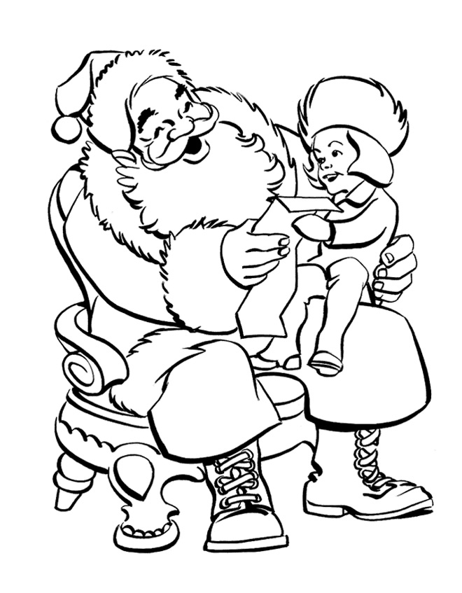 Desenho como desenhar papai noel entregando presentes pintar e colorir