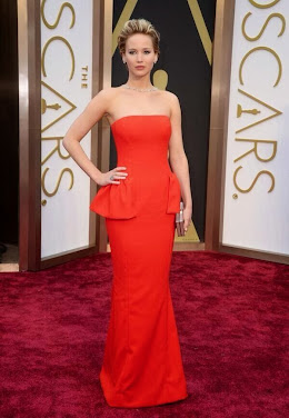 Jennifer Lawrence by Dior. Premios Oscar 2014.