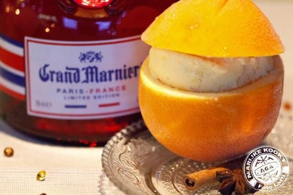 Sinasappel ijs met Grand Marnier