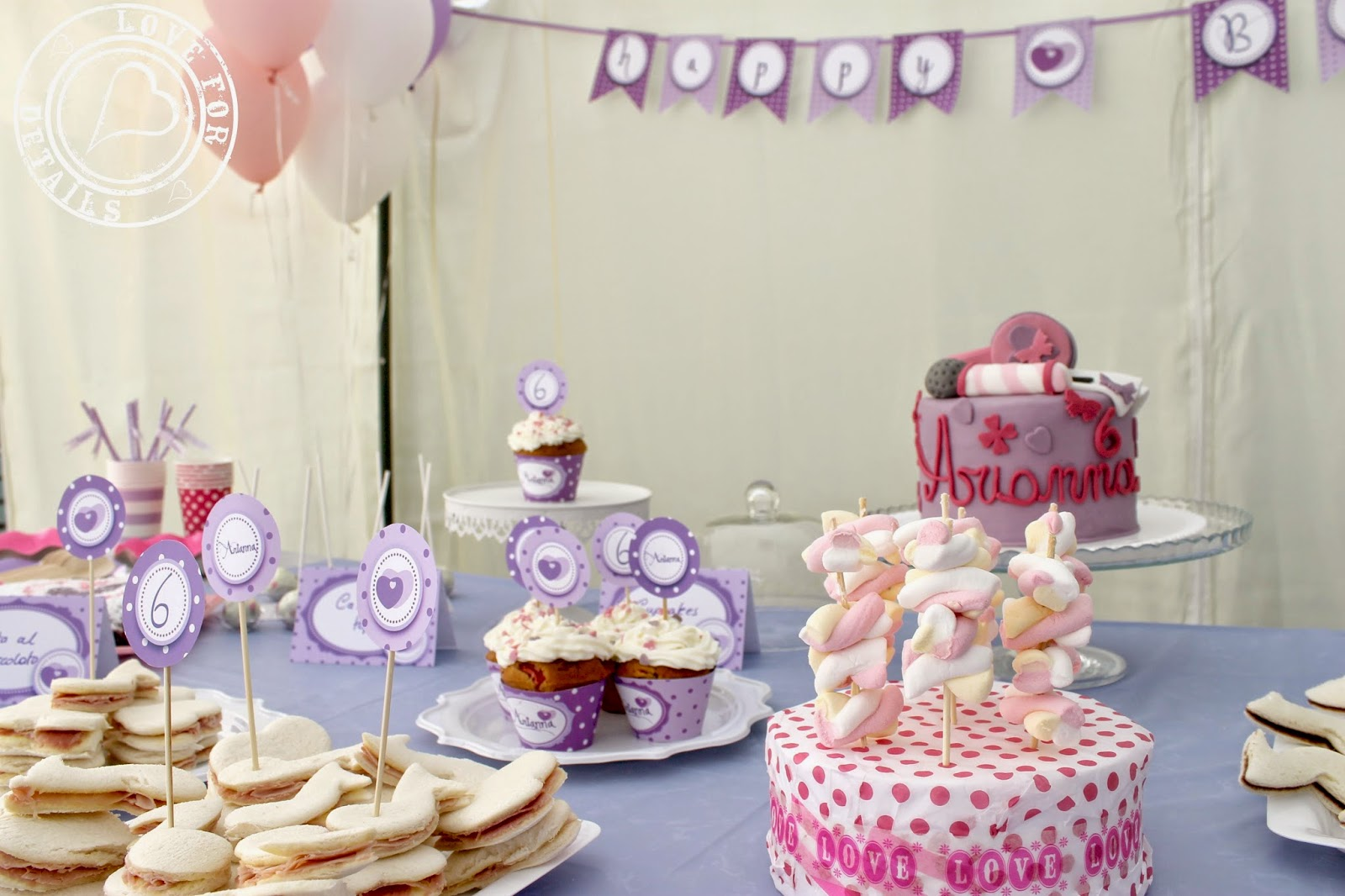 Violetta Party decorations