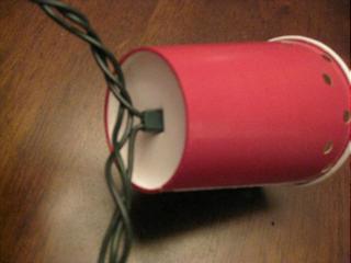Festpynt - lyskæde med farverige papkrus - DIY
