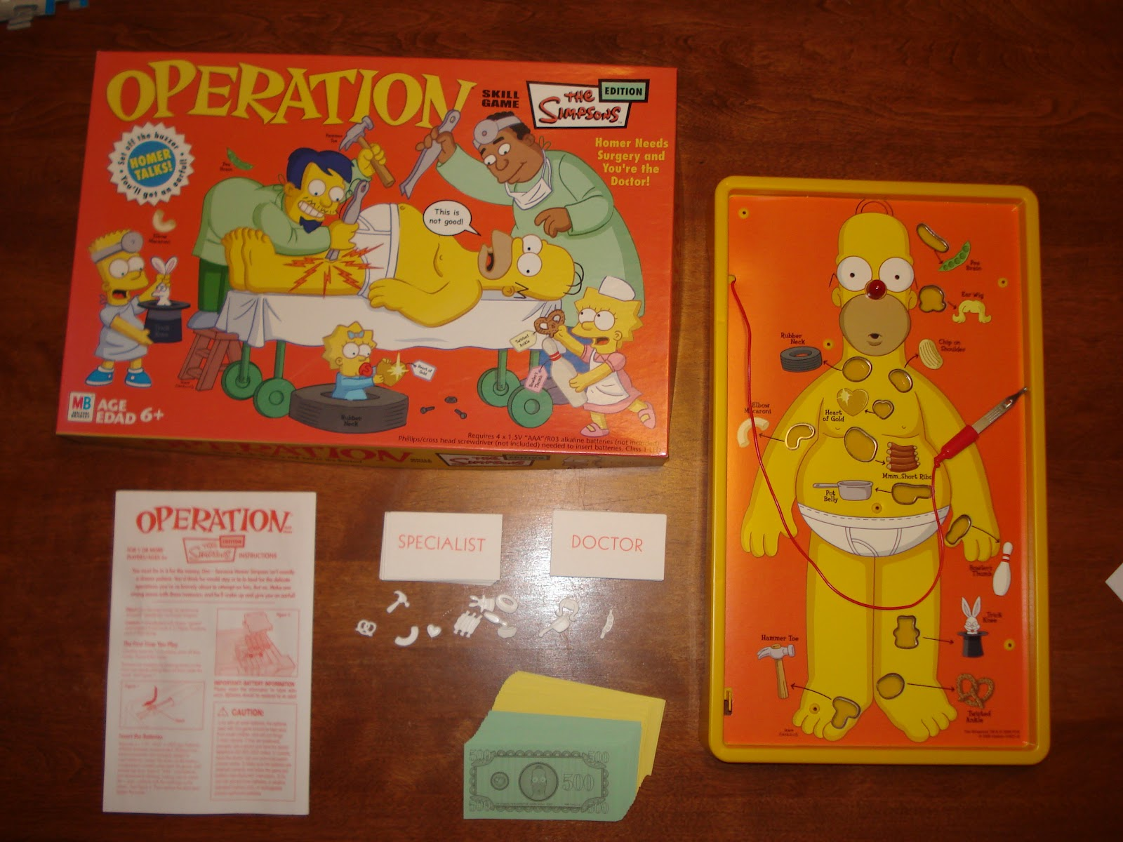 Board Games and More: Simpsons Operation