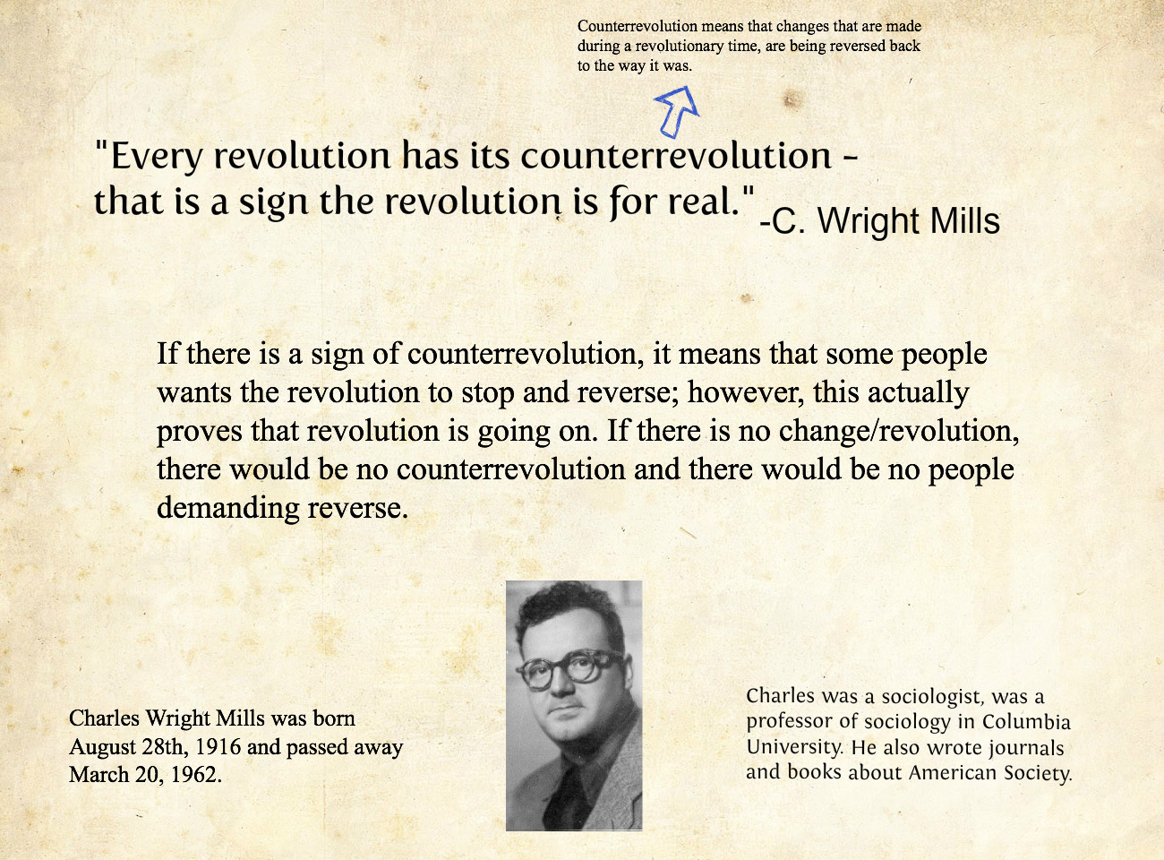 c wright mills sociological imagination C wright mills was sociologist best known for his controversial critiques of both contemporary society and sociological practice.