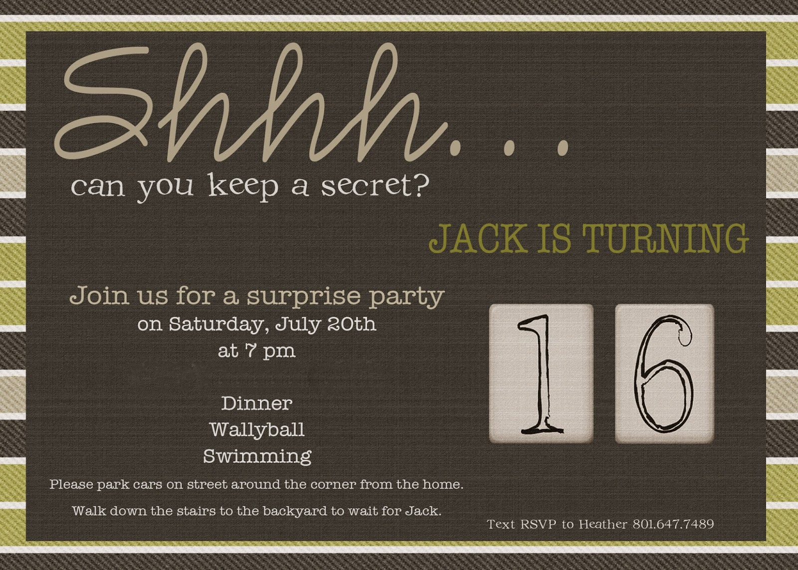 The Seal Bark: Jack\'s 16th {surprise} Birthday Party