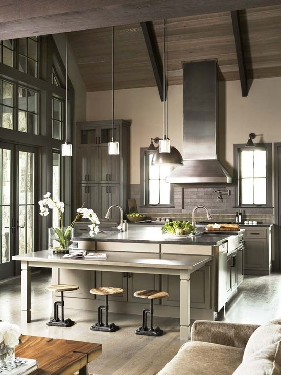 Modern Country Home Kitchen Design