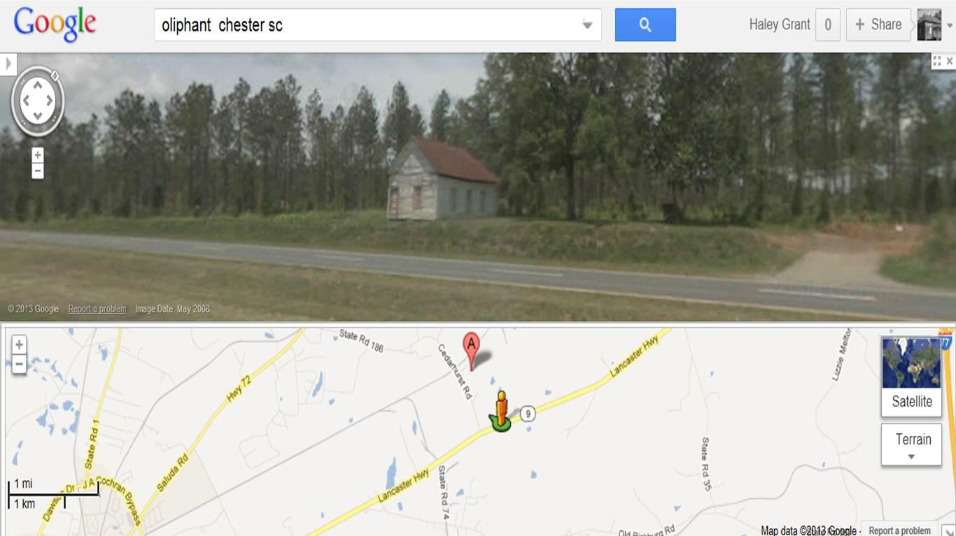 pryor colored school as seen in google street view google maps