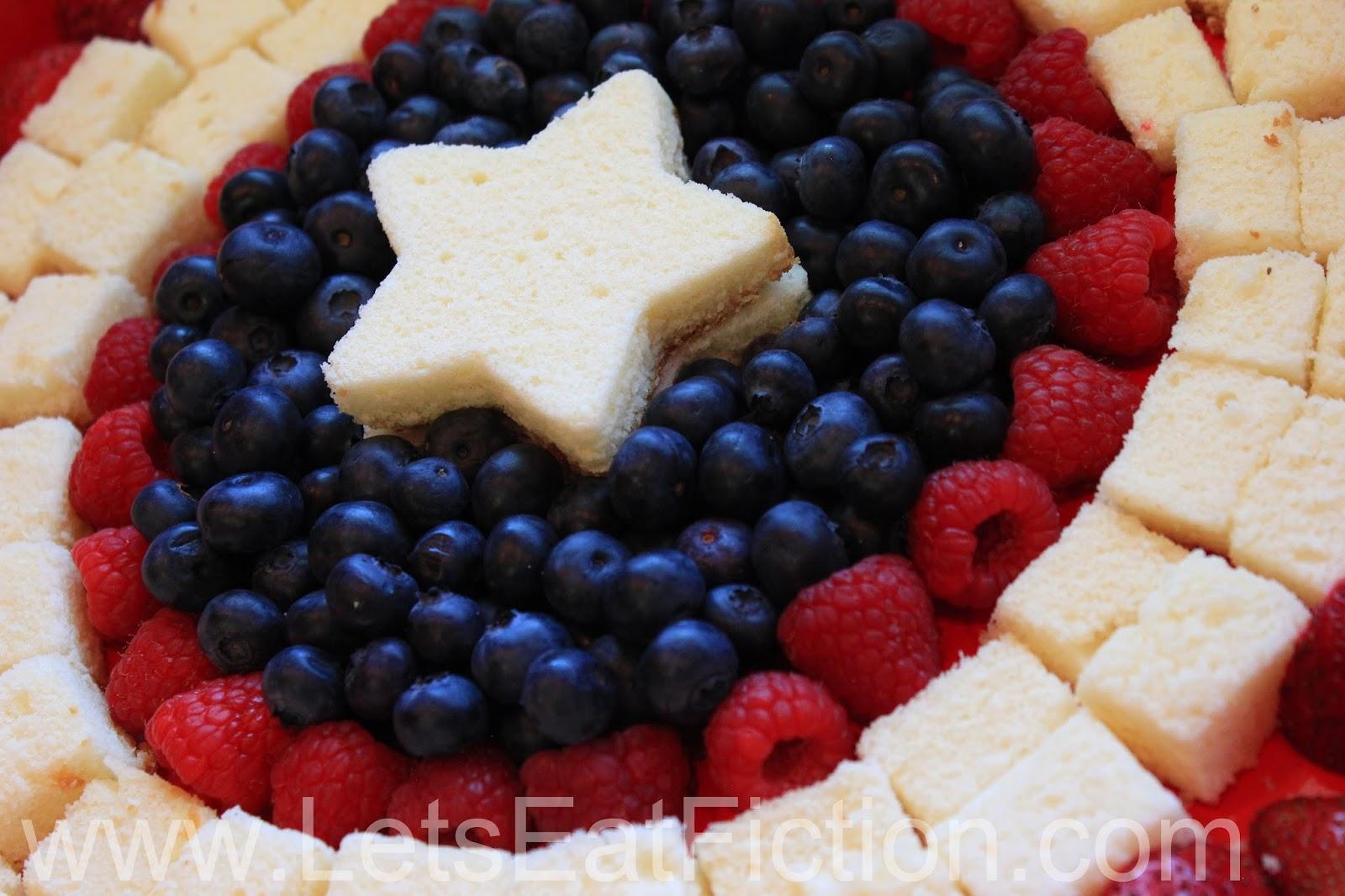 Lets Eat Fiction Captain America Shield Fruit Platter