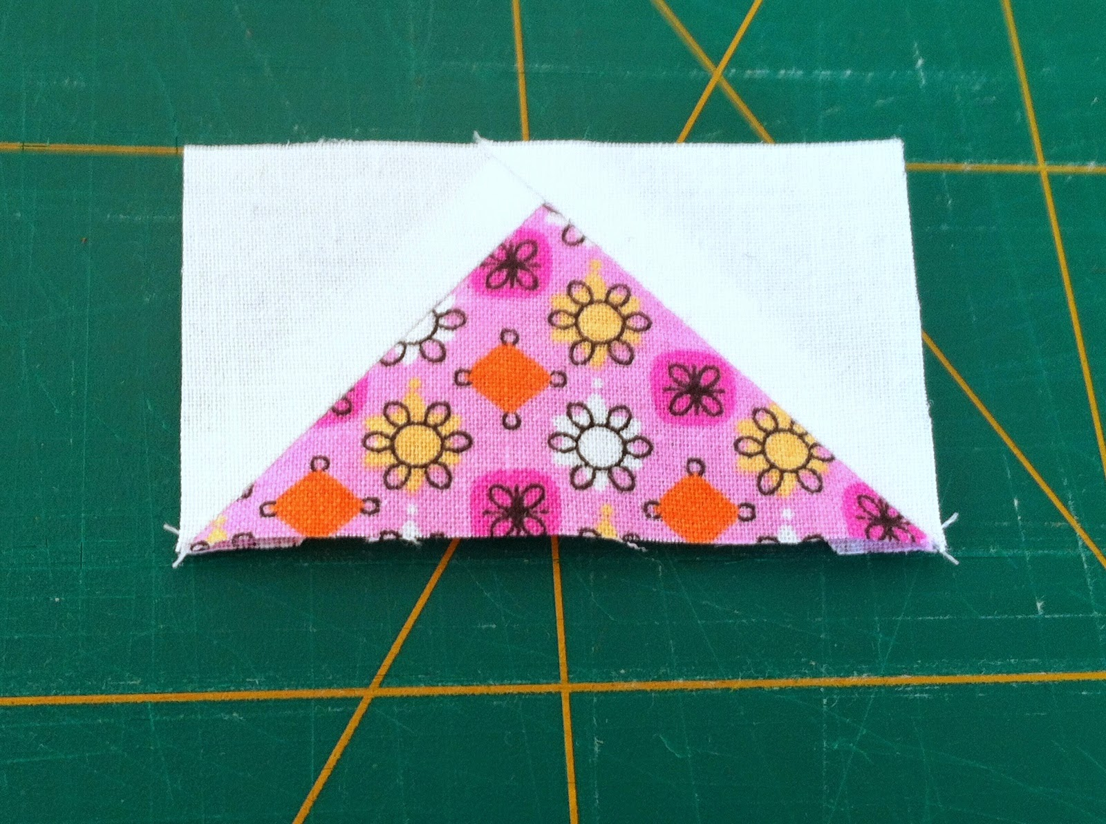 Patchwork blok maken Flying geese